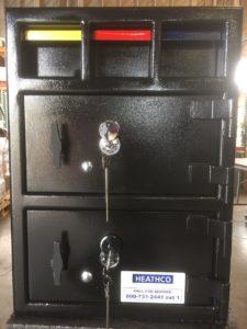 Dark black refurbished safe